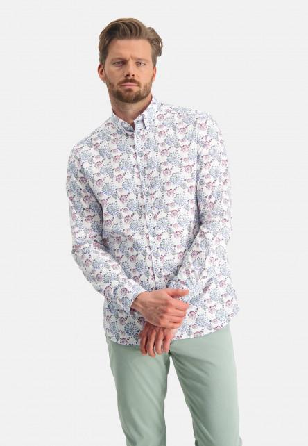 Shirt-Print---dark-green/pink