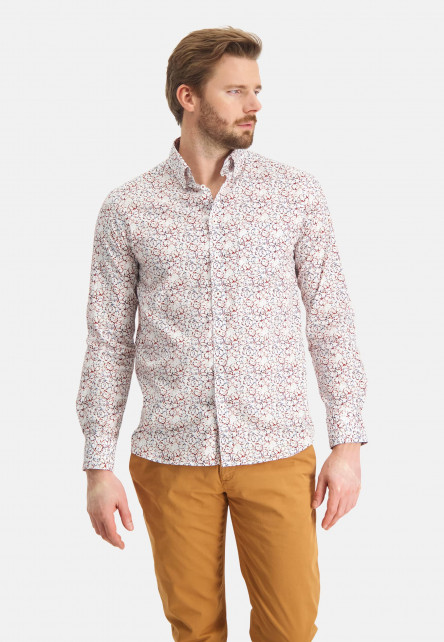 Shirt-of-stretch-cotton---brick/sand