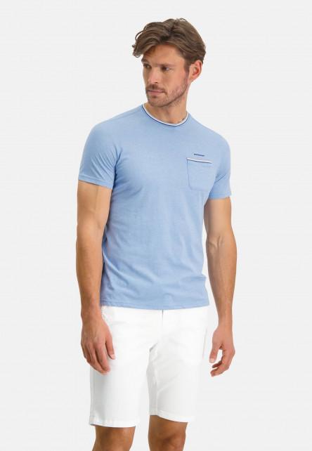 T-shirt-with-crew-neck-an-chest-pocket---blue/cobalt