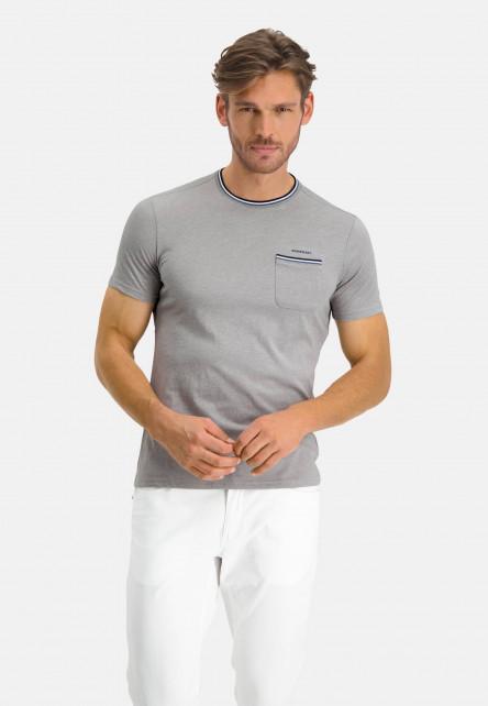 T-shirt-with-crew-neck-an-chest-pocket---lightgrey/cobalt