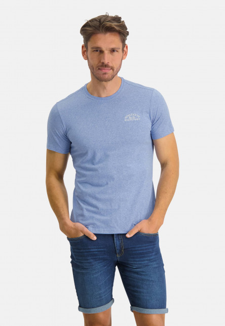 Cotton-T-shirt-with-an-artwork---mid-blue/cream