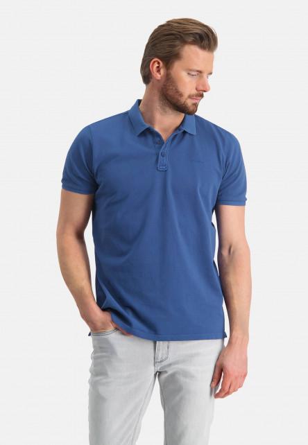 Polo-pique-with-regular-fit---cobalt-plain