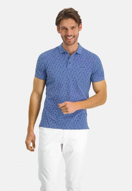 Poloshirt-Pique-Short-Sleeve-Print---cobalt/mid-blue