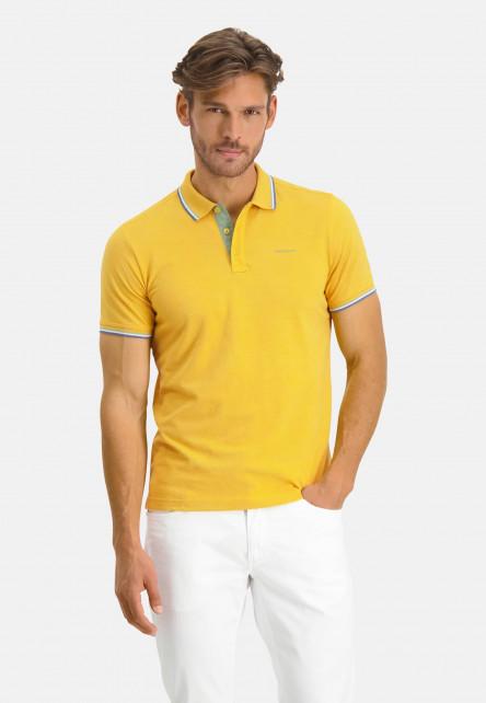 Poloshirt-Pique-Short-Sleeve-Plain---sulphur/emerald-green