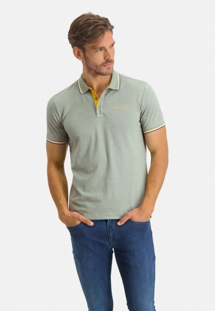 Poloshirt-Pique-Short-Sleeve-Plain---emerald-green/sulphur