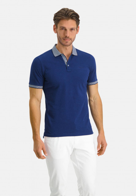 Poloshirt-Pique-Short-Sleeve-Plain---cobalt/white