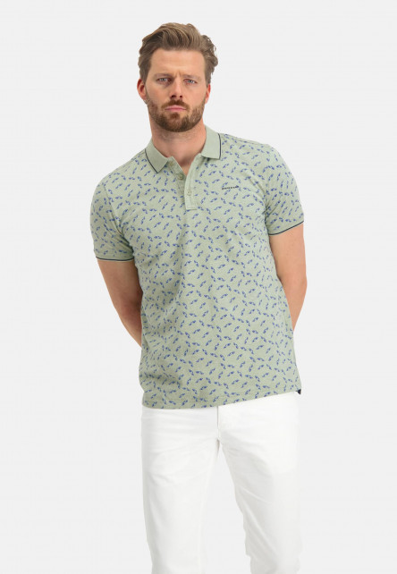 Polo-with-a-car-print---emerald-green/midnight