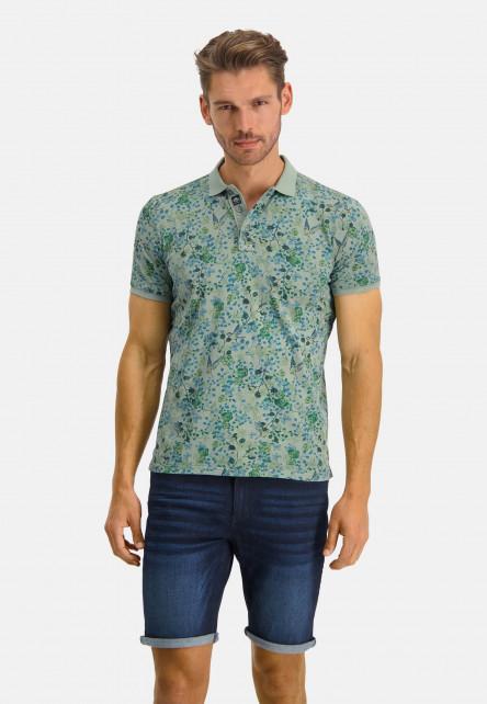 Poloshirt-Jersey-SS-Printed---emerald-green/cobalt