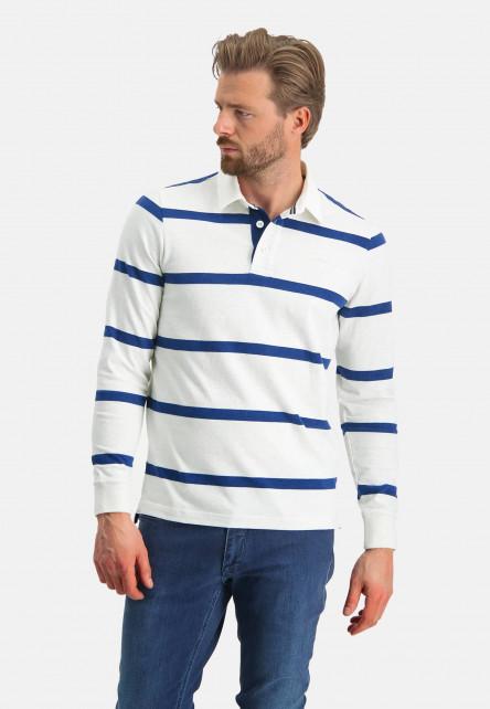 Rugbyshirt-of-organic-cotton---greige/cobalt