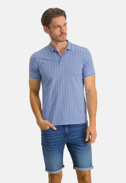 Poloshirt-Jersey-Short-Sleeve-Print---blue/cobalt