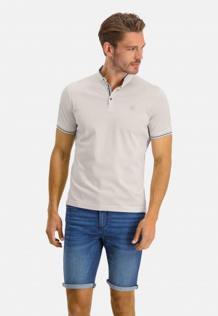 Poloshirt-Pique-Short-Sleeve-Plain---cream/white