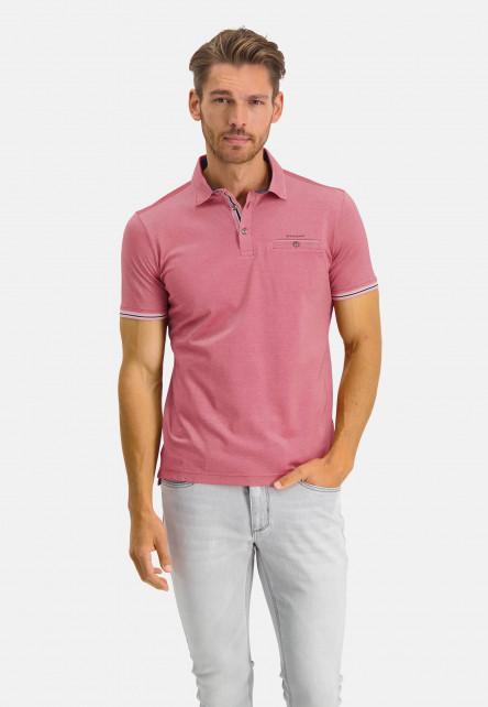Poloshirt-Pique-Short-Sleeve-Plain---pink/wine-red