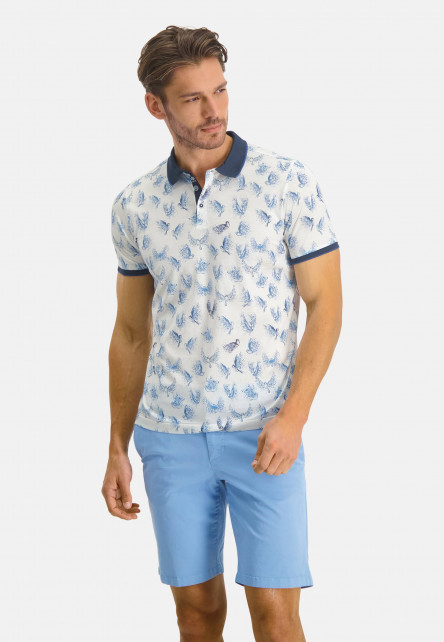 Poloshirt-Jersey-Short-Sleeve-Print---white/midnight
