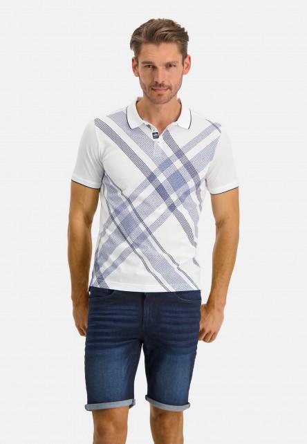 Poloshirt-Pique-Short-Sleeve-Print---white/midnight