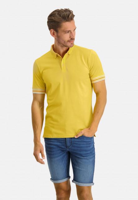 Poloshirt-Pique-Short-Sleeve-Plain---light-yellow-plain