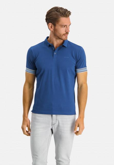Polo-with-stripe-detail---cobalt-plain