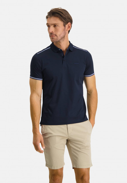 Poloshirt-Jersey-Short-Sleeve-Plain---dark-blue-plain