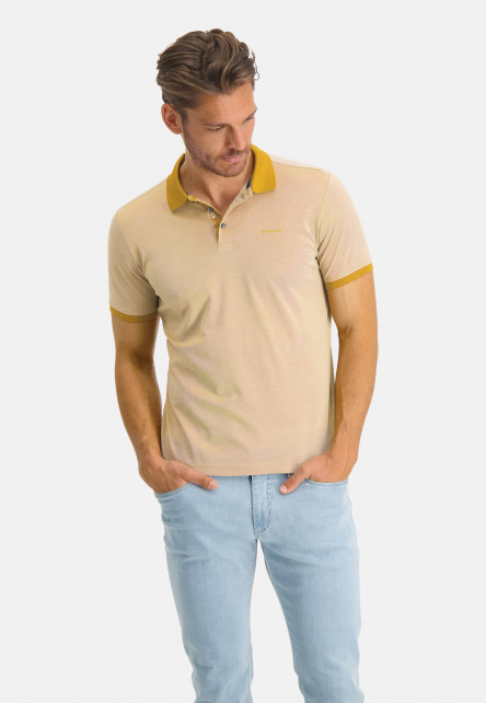 Polo-of-mercerized-cotton---mango/greige