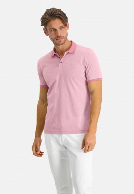 Polo-of-mercerized-cotton---pink/white