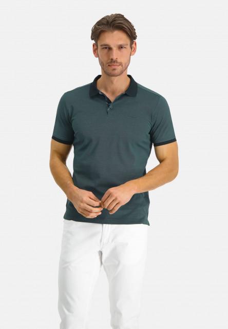 Polo-of-mercerized-cotton---midnight/dark-green