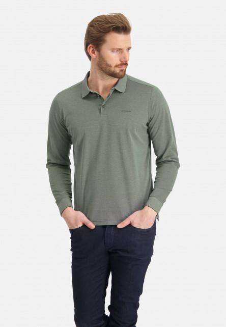 Polo-made-of-mercerized-cotton---emerald-green/moss-green