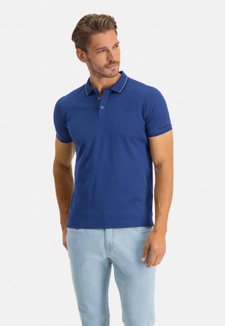 Polo-with-regular-fit-and-brandlogo---cobalt-plain