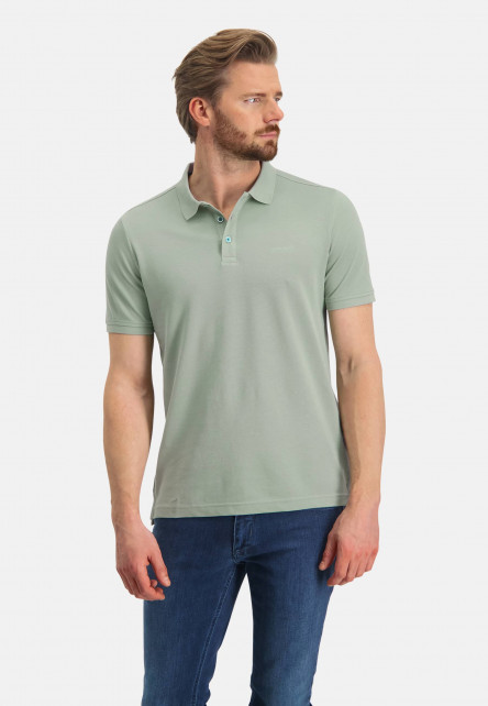 Pique-polo-with-regular-fit---leafgreen-plain