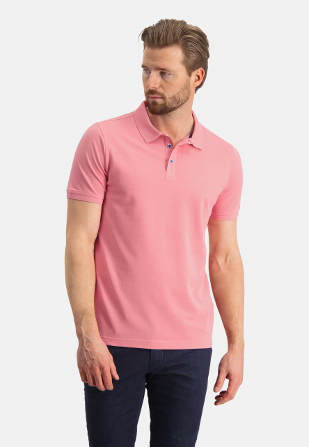 Pique-polo-with-regular-fit---pink-plain