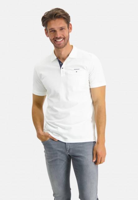 Polo-made-of-Pima-coton---white-plain