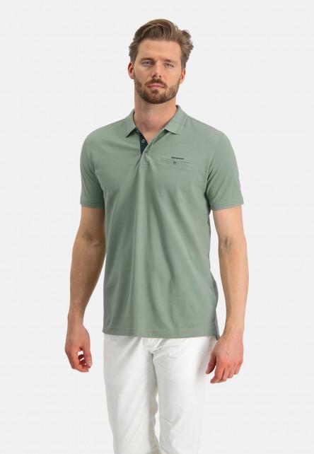 Polo-made-of-Pima-coton---leafgreen-plain