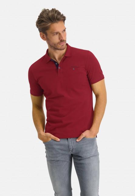 Polo-made-of-Pima-coton---wine-red-plain