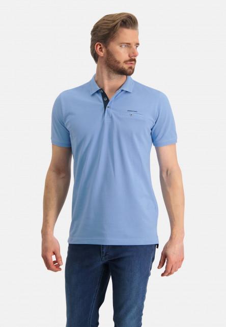Polo-made-of-Pima-coton---blue-plain