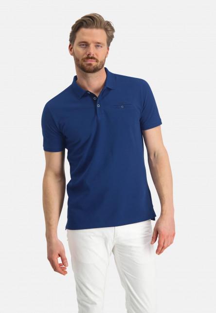 Poloshirt,-Piqué,-Pima-Baumwolle---kobalt-uni