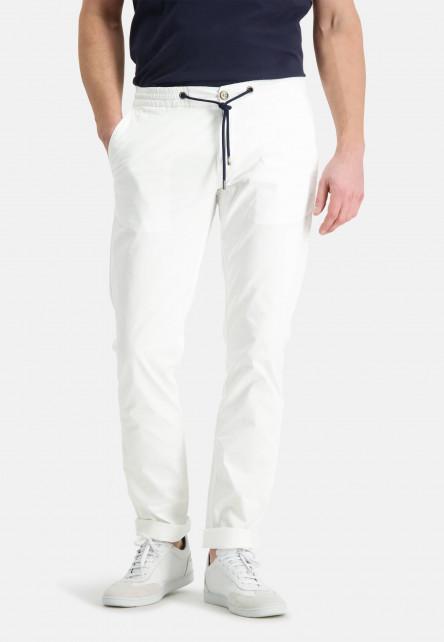 Chino-with-drawstring---white-plain
