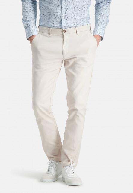 Stretch-chinos-made-of-a-linen-blend---cream-plain