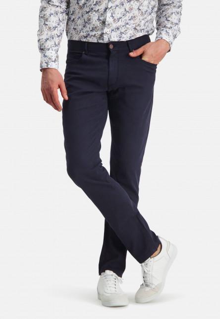 Corduroy-trousers-with-stretch---dark-blue-plain