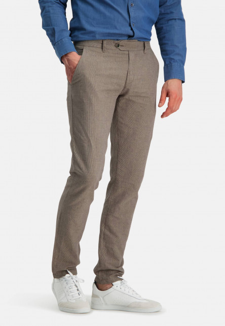 Printed-chino-with-modern-fit---sand-plain