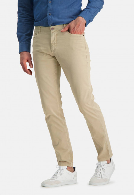 Stretchy-trousers-with-regular-fit---sand-plain