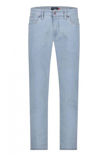 5-Pocket-stretch-jeans---blue-plain