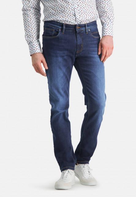 5-Pocket-stretch-jeans---navy-plain
