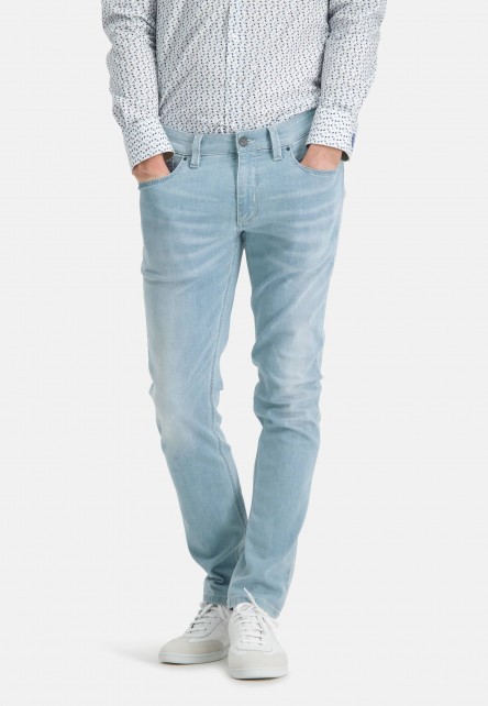 5-Pocket-stretch-jeans-with-a-modern-fit---blue-plain