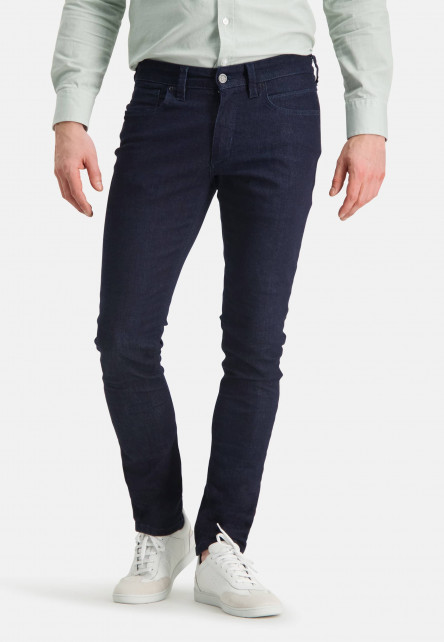 5-Pocket-stretch-jeans-with-a-modern-fit---dark-blue-plain