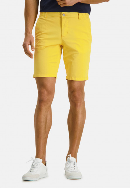Shorts-in-a-chino-look---light-yellow-plain