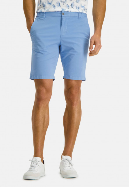 Shorts-in-a-chino-look---blue-plain