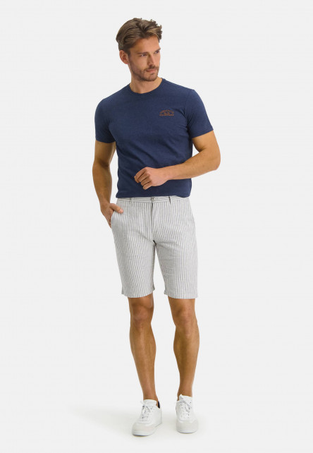 Bermuda-striped-with-regular-fit---cobalt/white