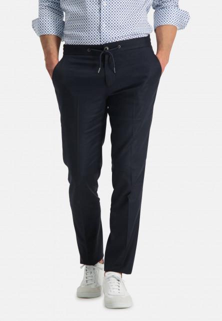 Jogging-trousers---dark-blue-plain