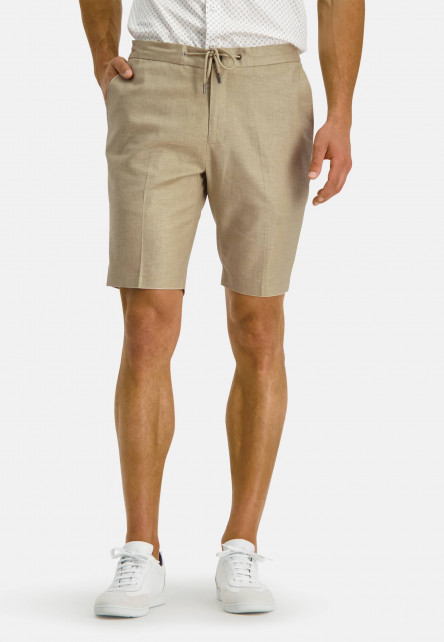 Modern-Classics-stretch-shorts-of-a-linen-blend---sand-plain