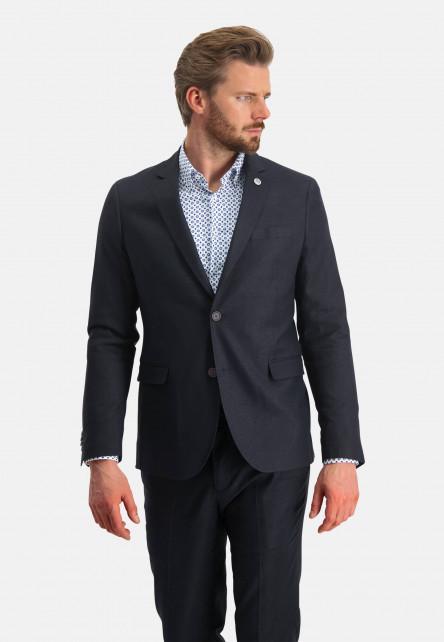 Modern-Classics-blazer-of-a-linen-blend---dark-blue-plain