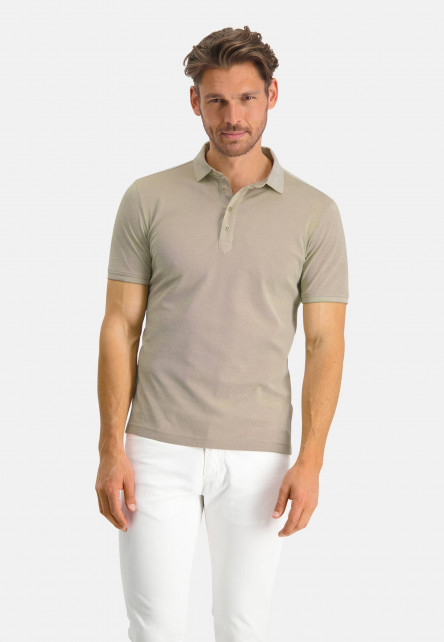 Modern-Classics-polo-with-short-sleeve---sand/white