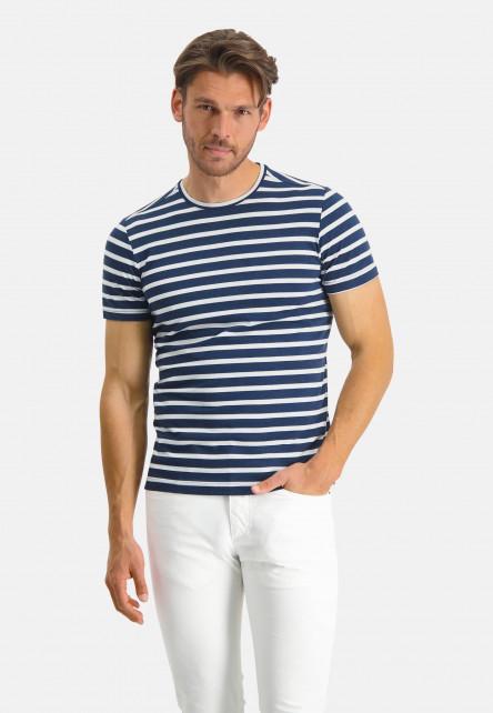 Modern-Classics-T-shirt-with-stripes---dark-blue/white